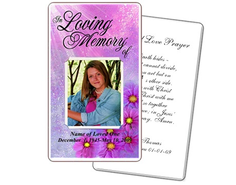 5 best images of free printable memorial cards free for Funeral memory cards free templates