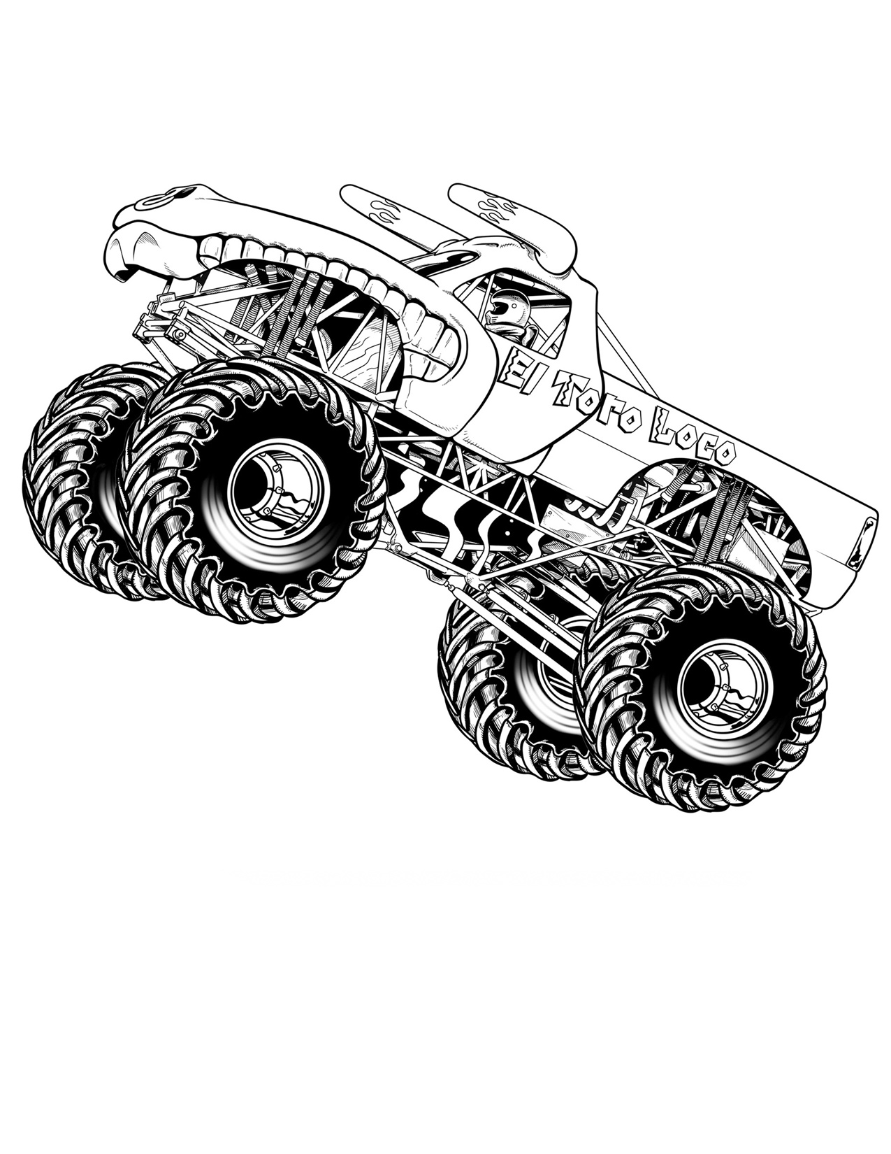 6 Images of Monster Jam Monster Trucks Coloring Pages Printable