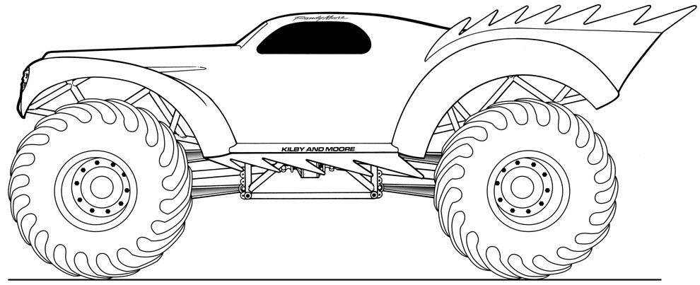 Printable Monster Jam Coloring Pages