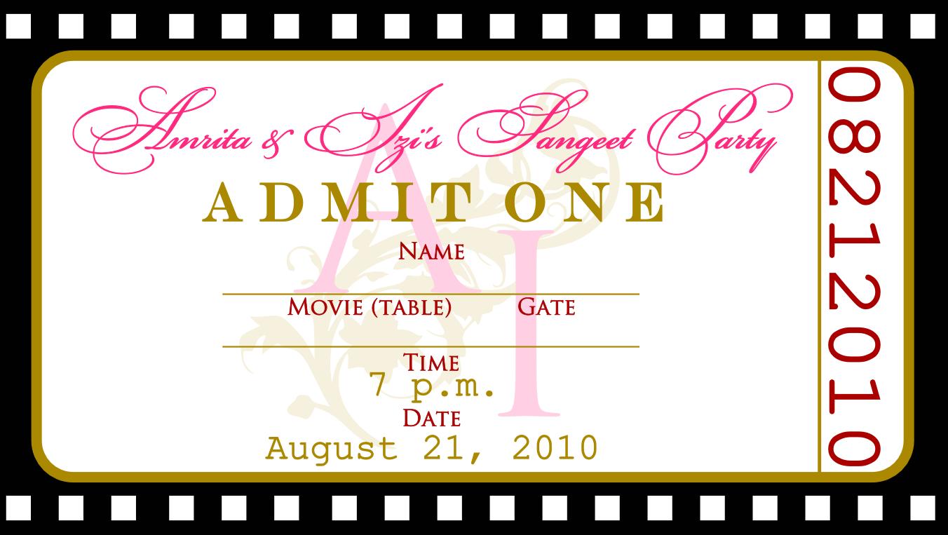 5 Images of Free Printable Movie Ticket Invitation Templates