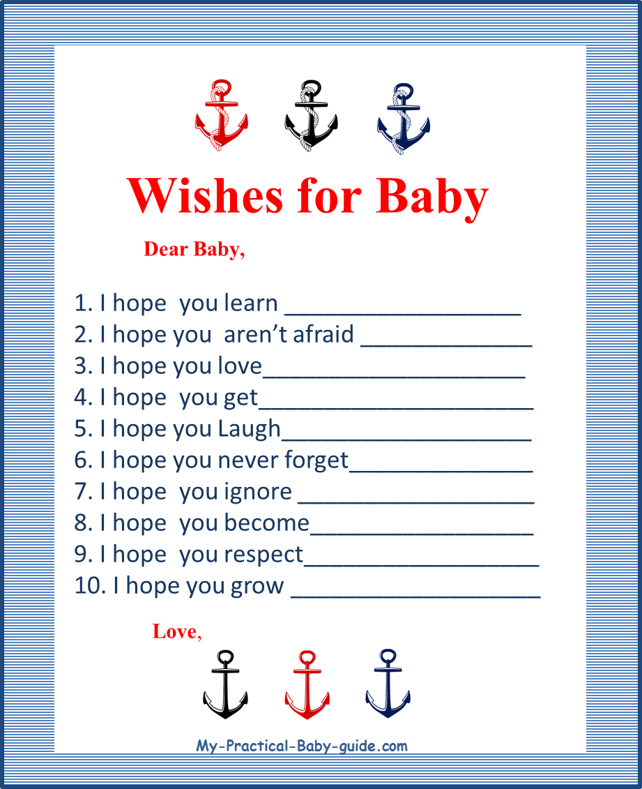 8 Images of Anchor Baby Shower Game Free Printables