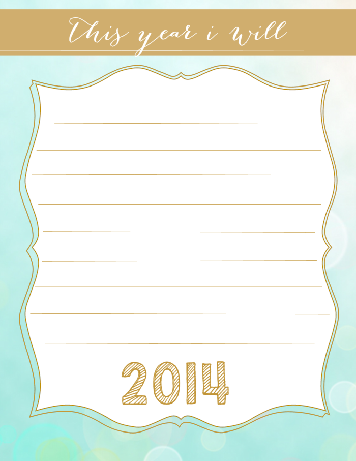6 Images of My New Years Resolution Printable