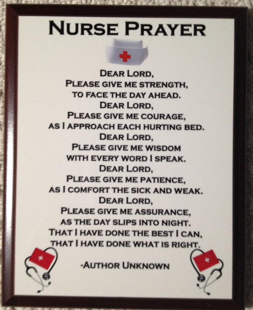 6 Images of Pocket Size Printable Nurses Prayers