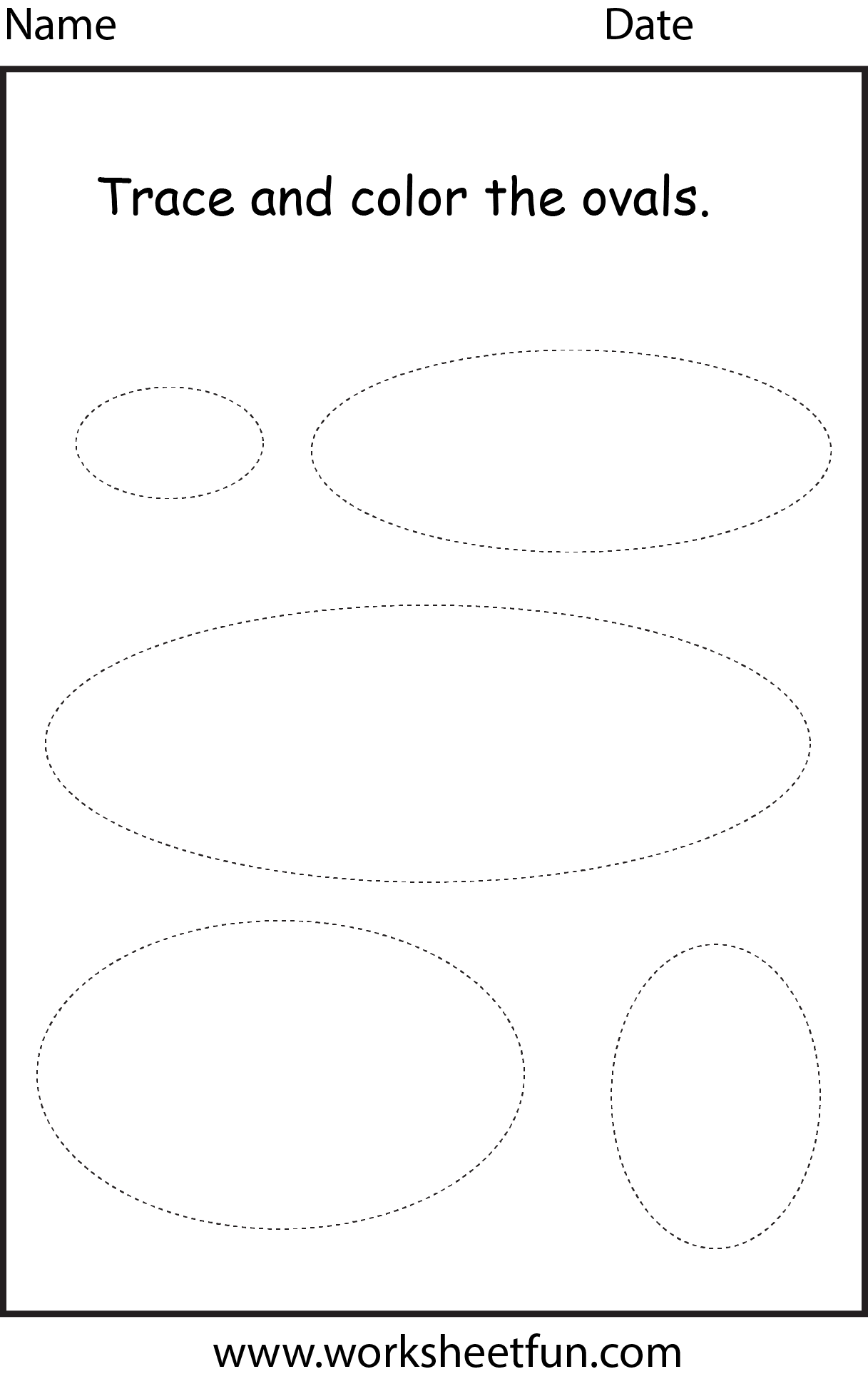 6 Images of Oval Printable Shape Worksheets