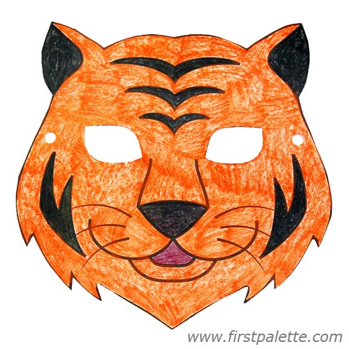 6 Images of Tiger Animal Mask Printable