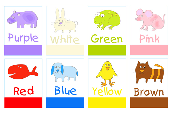 4 Images of Colors For Toddlers Printable