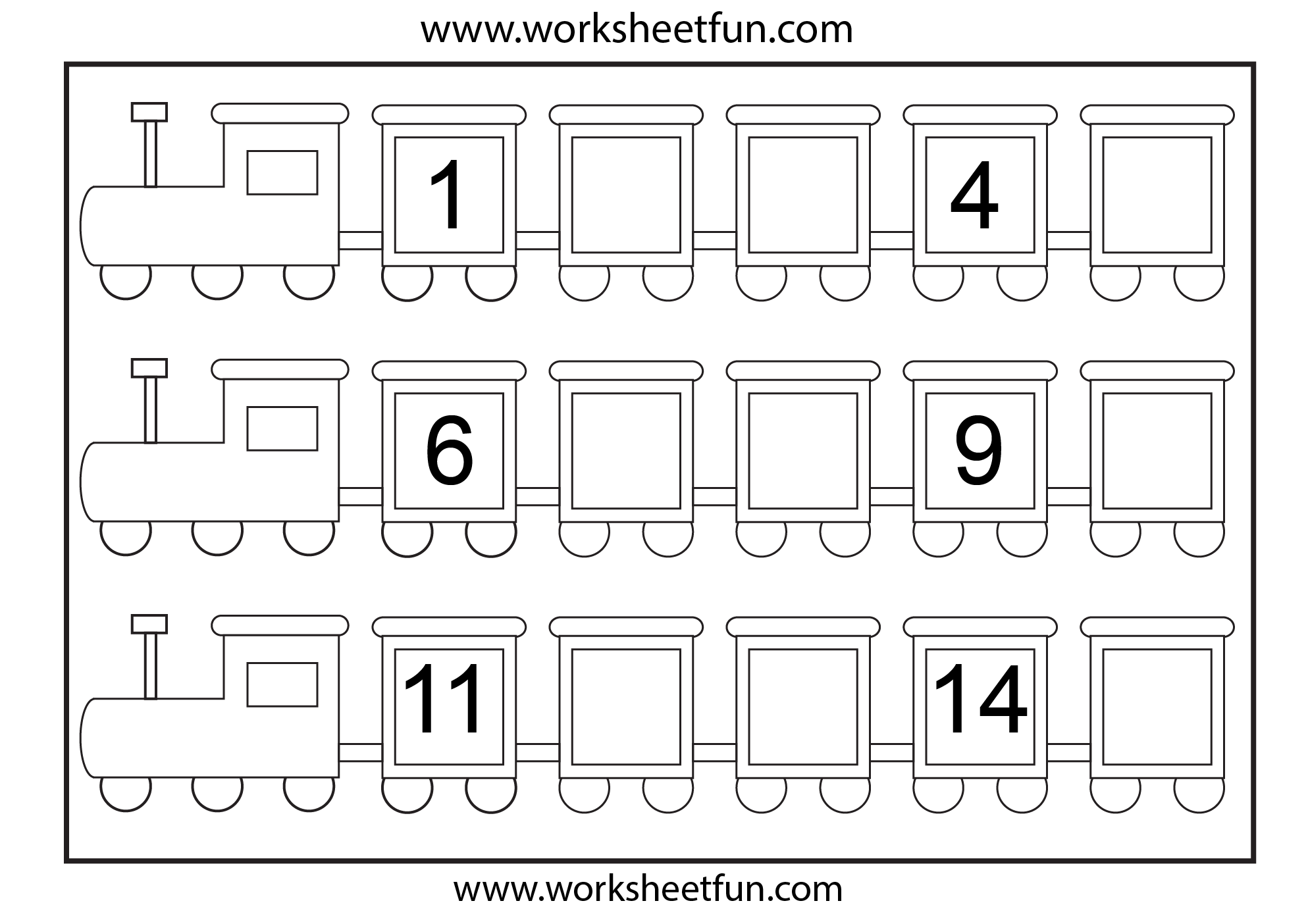 Number Worksheets For Kindergarten : Best images of free printable missing numbers