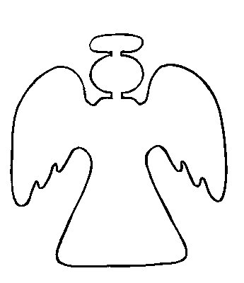 8 Images of Angel Outlines Printable