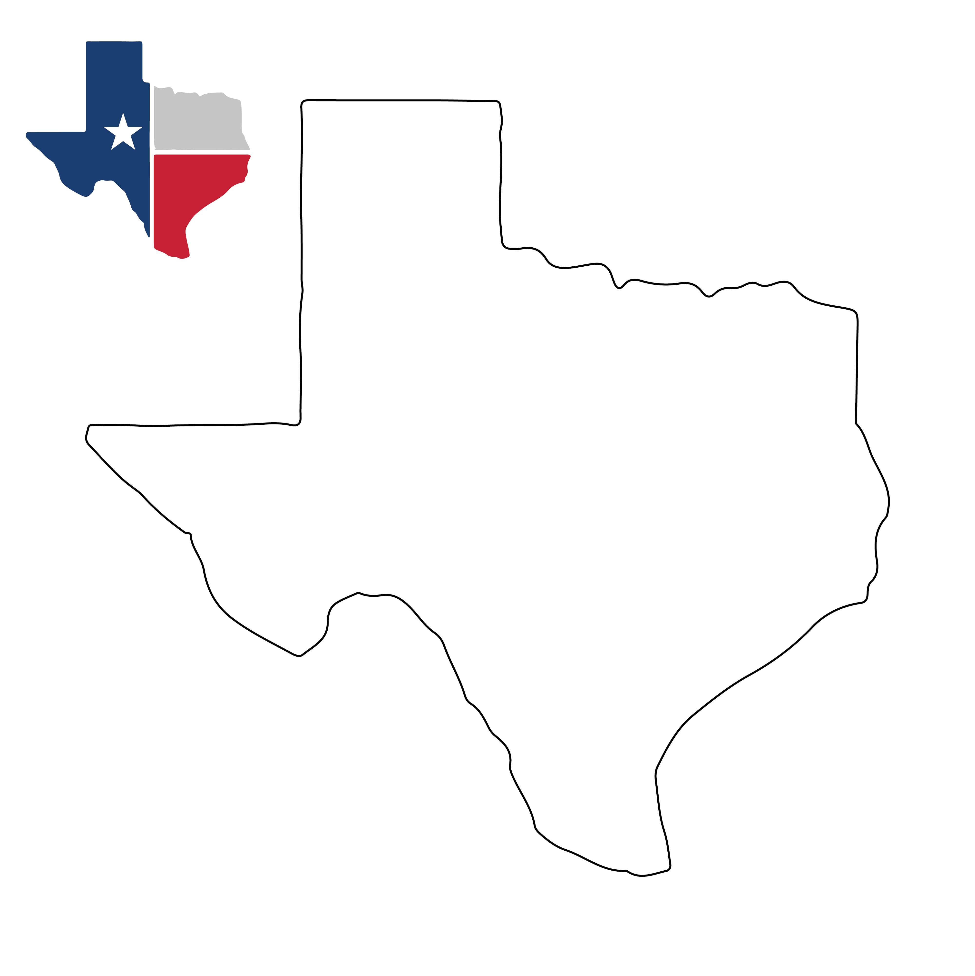 Printable Blank Texas Map