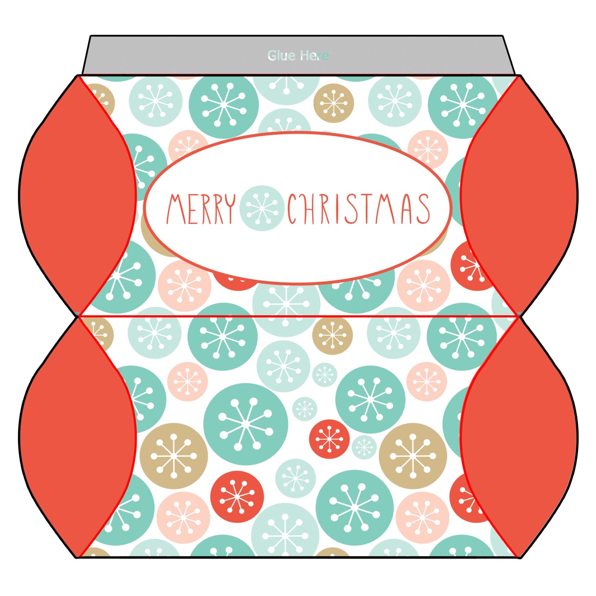 Printable Christmas Gift Boxes Template