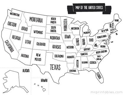 Printables Us Map Worksheet us map worksheet davezan united states blank bloggakuten