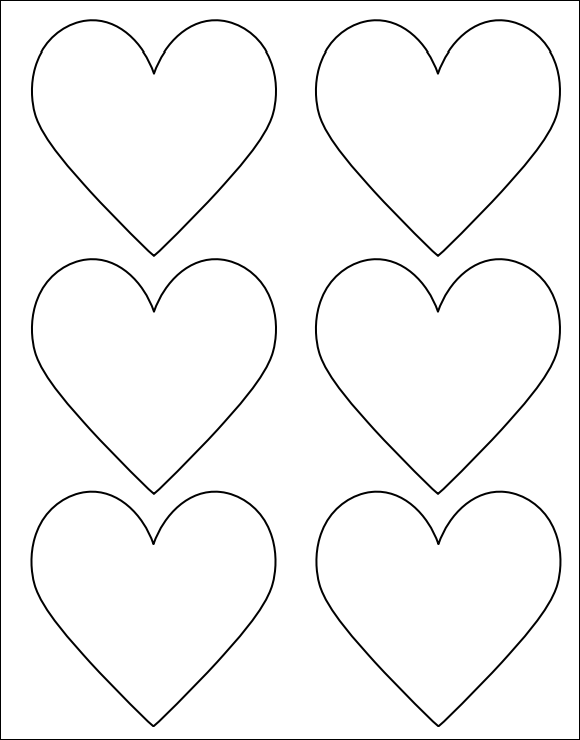 7 best images of heart shape template printable large for Hexahexaflexagon template