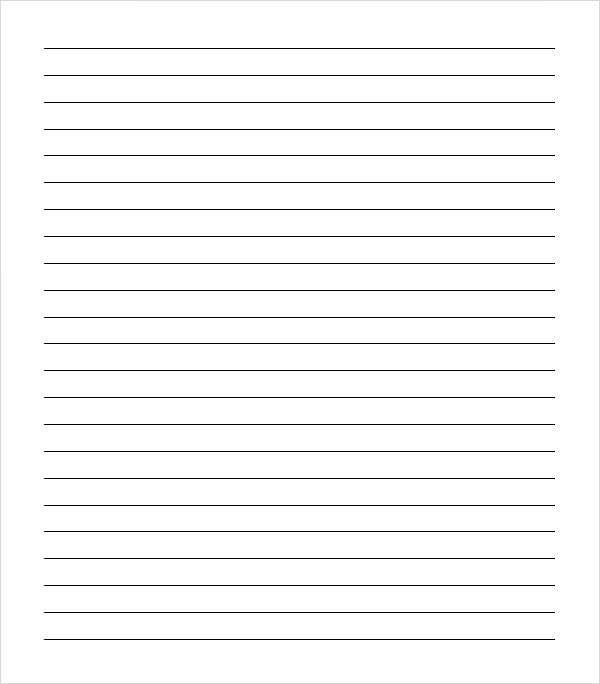 9 Images of College Ruled Notebook Paper Printable