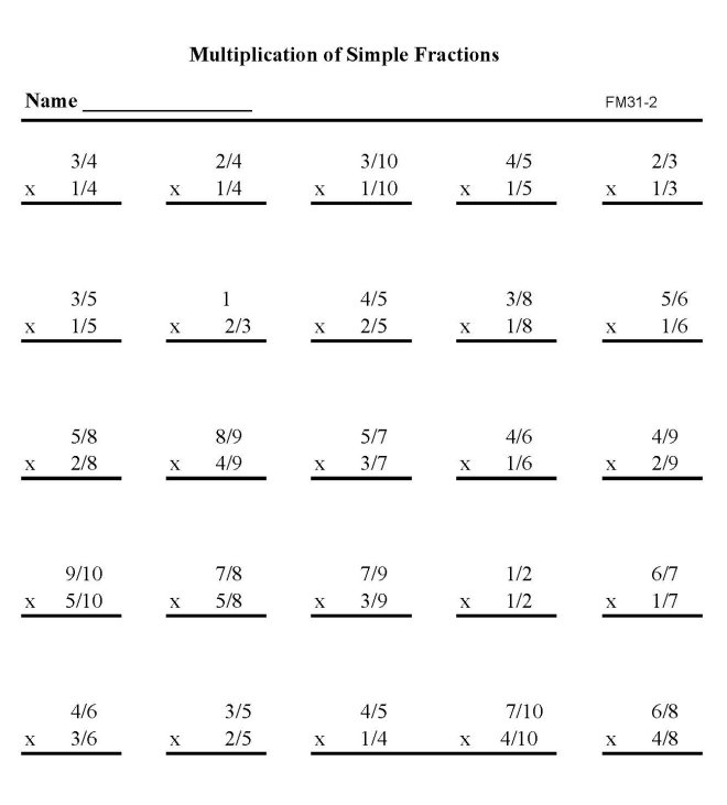 Worksheet 604780 Simple Maths Worksheets Free Preschool and – Math Worksheets Multiplying Fractions