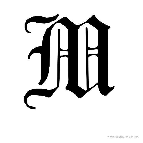 7 best images of printable fancy letter m cursive letter