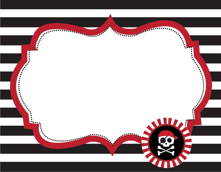 6 Images of Free Printable Pirate Labels
