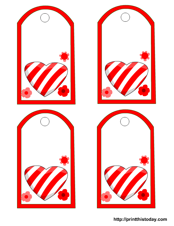 5 Images of Free Printable Heart Gift Tags