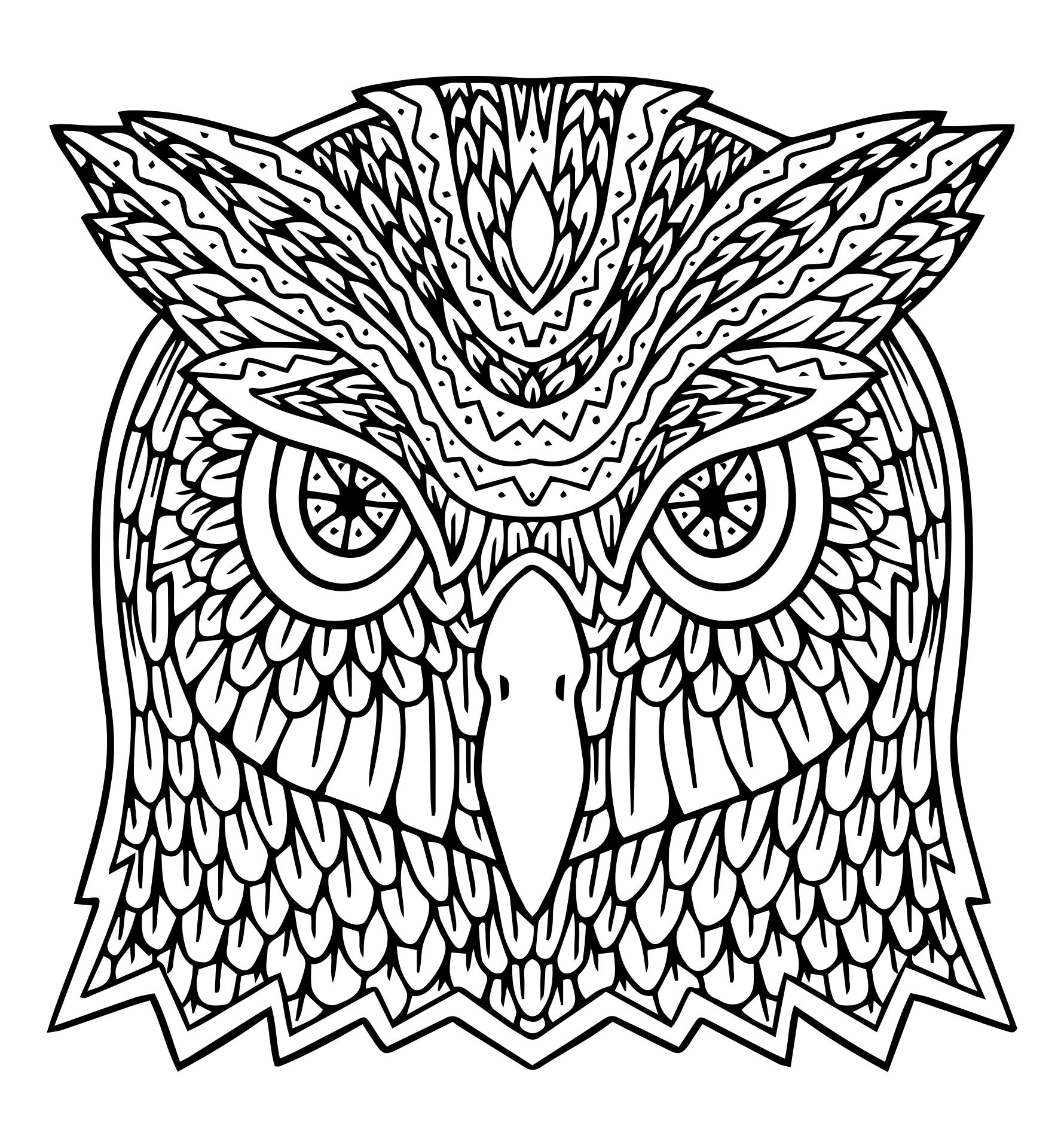 Scary Halloween Owl Coloring Pages