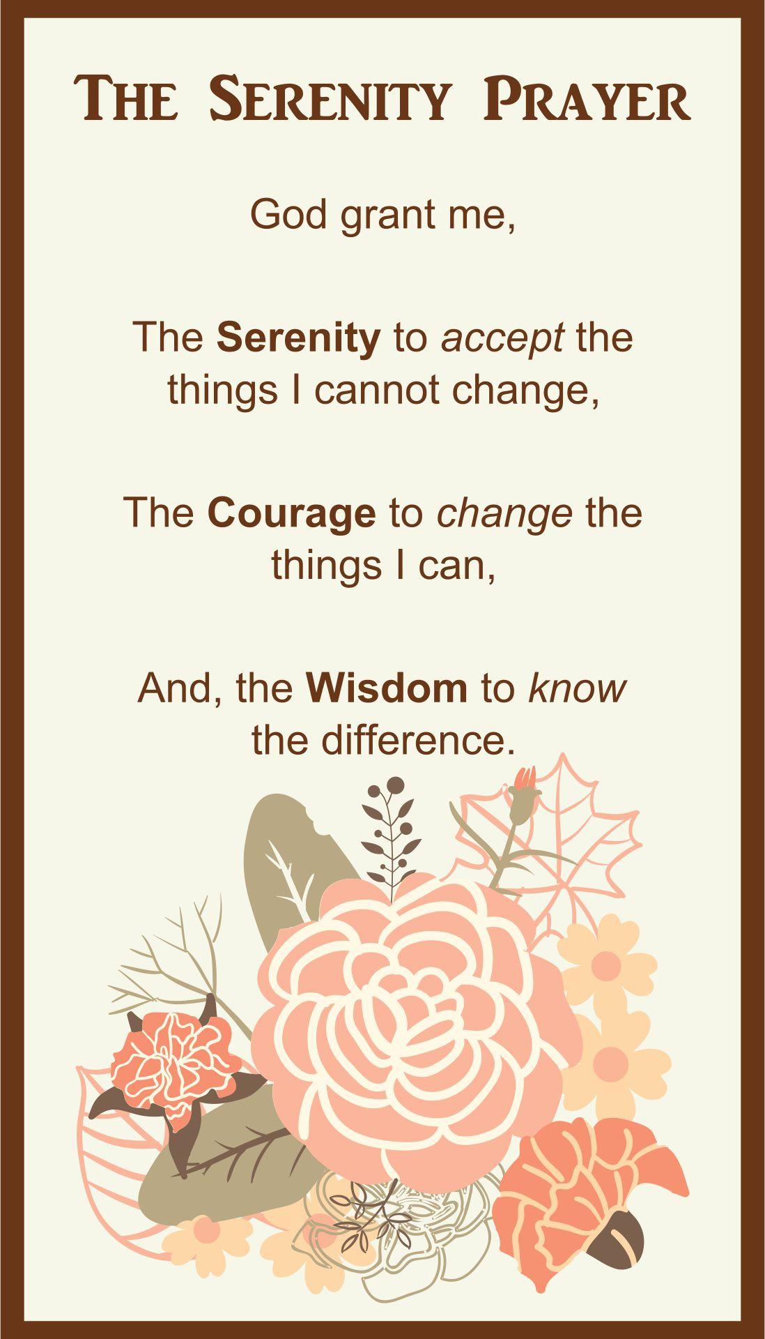Accomplished image for free printable serenity prayer