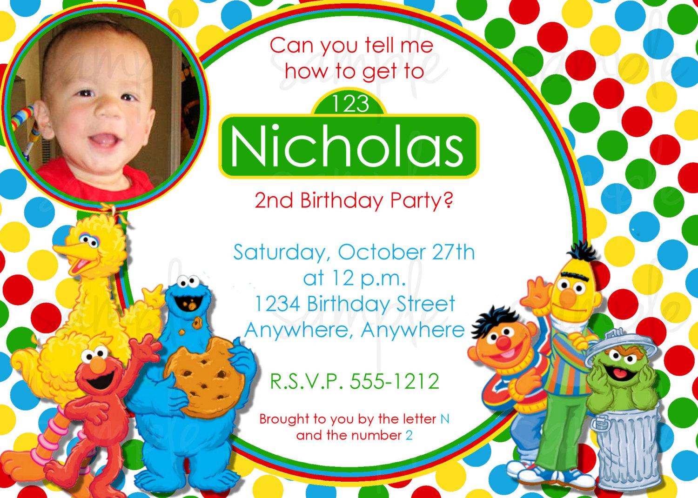Sesame Street Invitation Template was amazing invitation template
