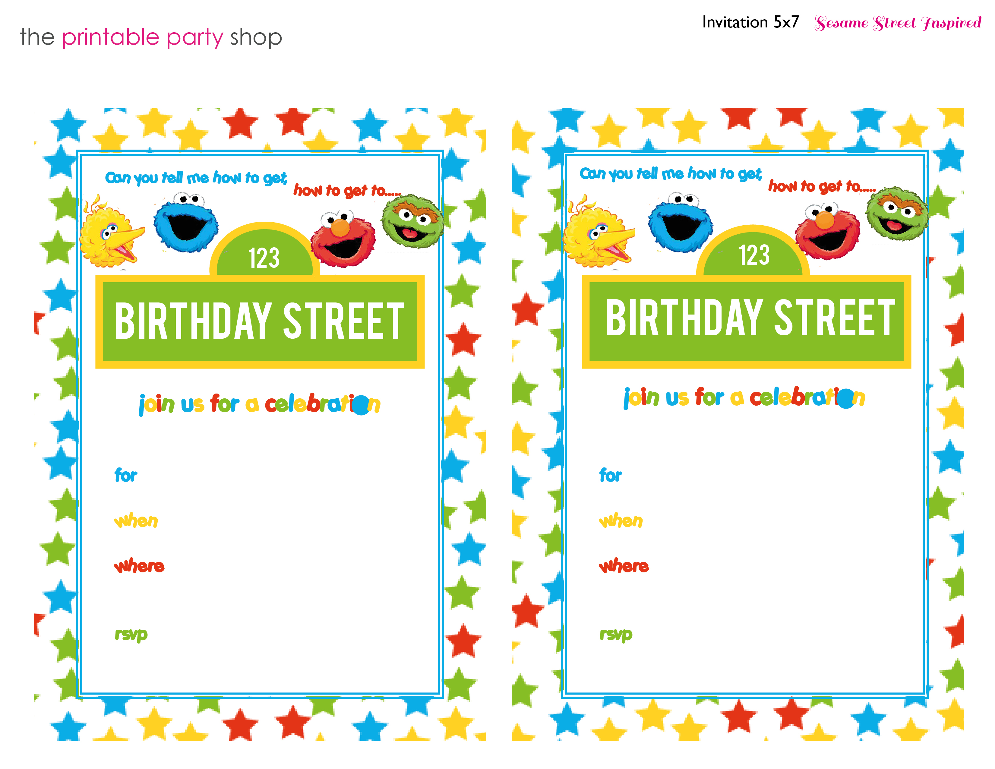Printable Sesame Street Invitations for awesome invitations sample