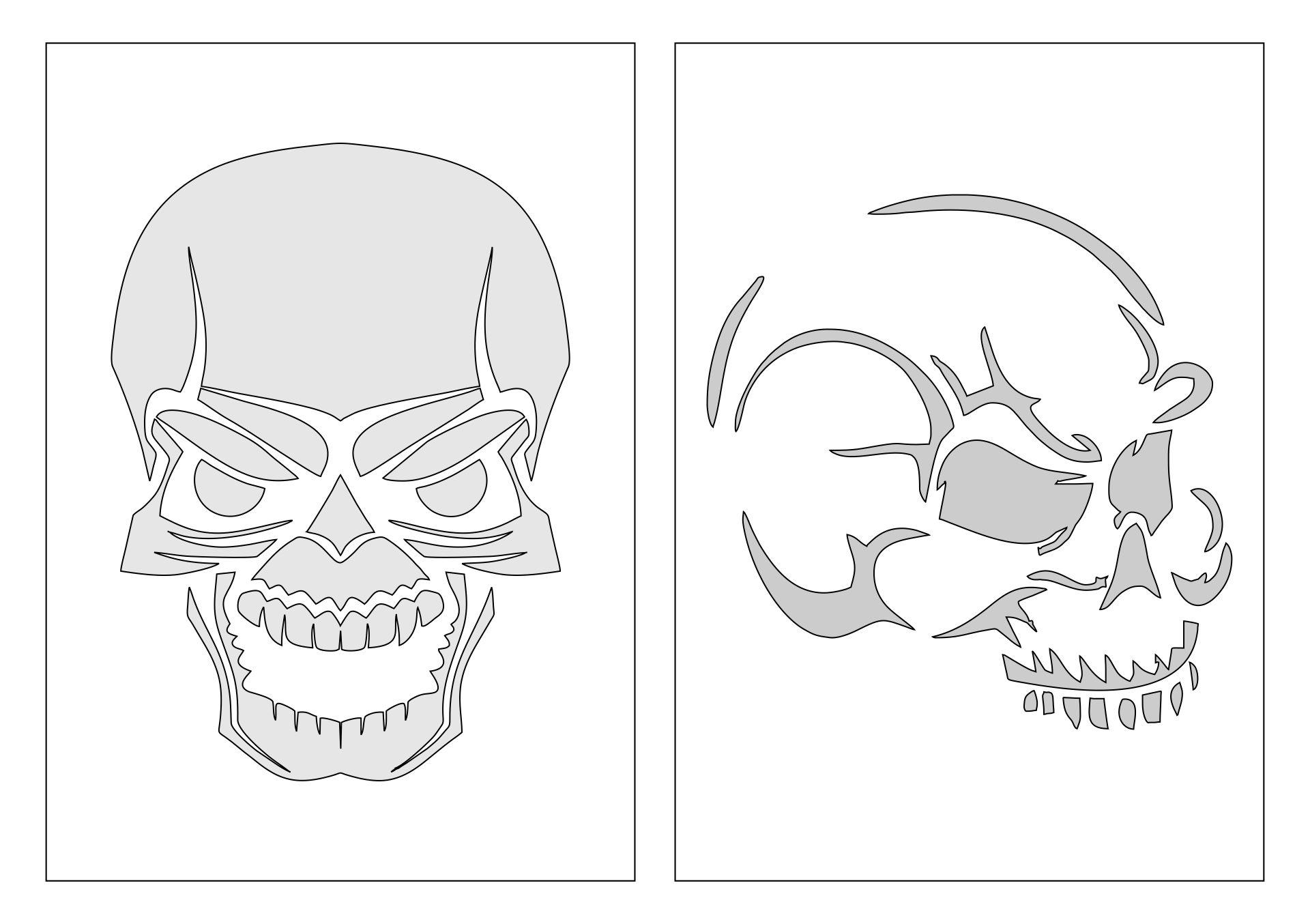6 Images of Free Printable Halloween Pumpkin Stencils Skulls