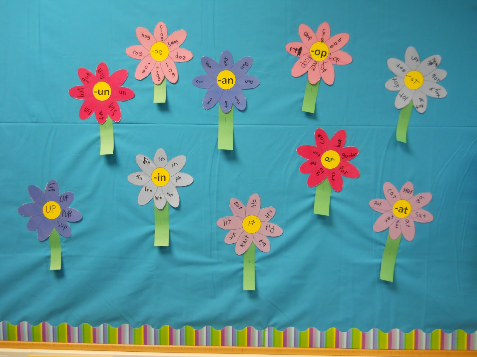 Printable Spring Classroom Decorations ~ Best images of flower printables for bulletin boards