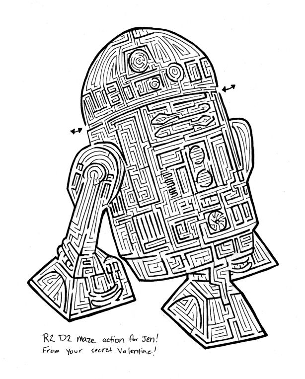 6 Images of Star Wars Mazes Printable