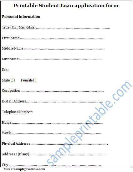 4 Images of Free Printable Scholarship Application Form