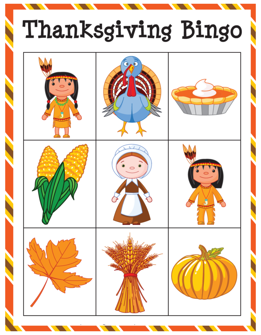 6 Images of Printable Thanksgiving Card Games