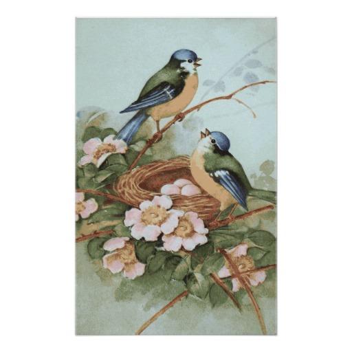 6 Images of Printable Vintage Bird Prints