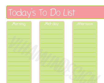 5 Images of Vintage Printable To Do List