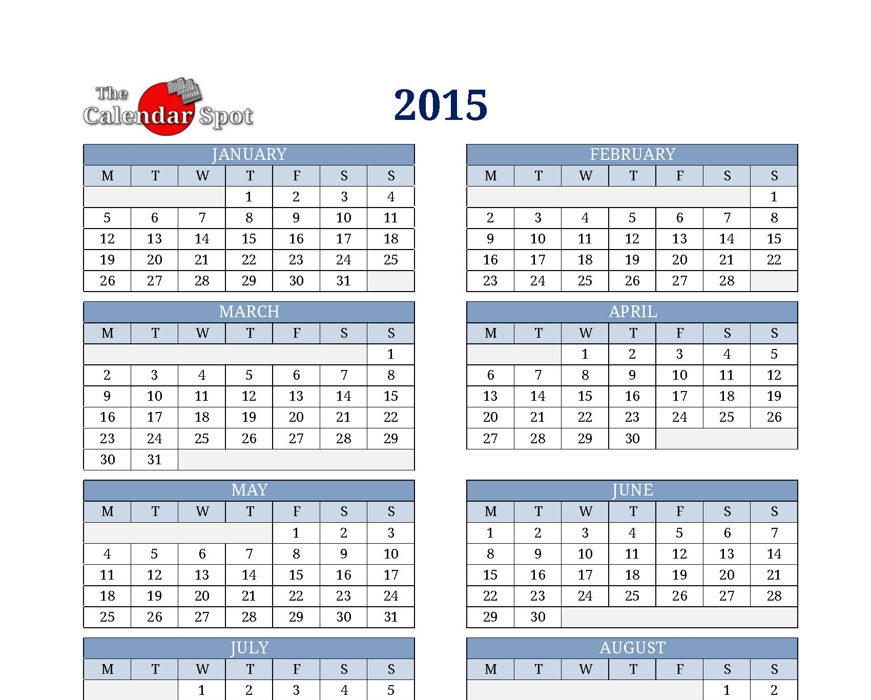 Calendar One Page : Best images of year calendar printable one page