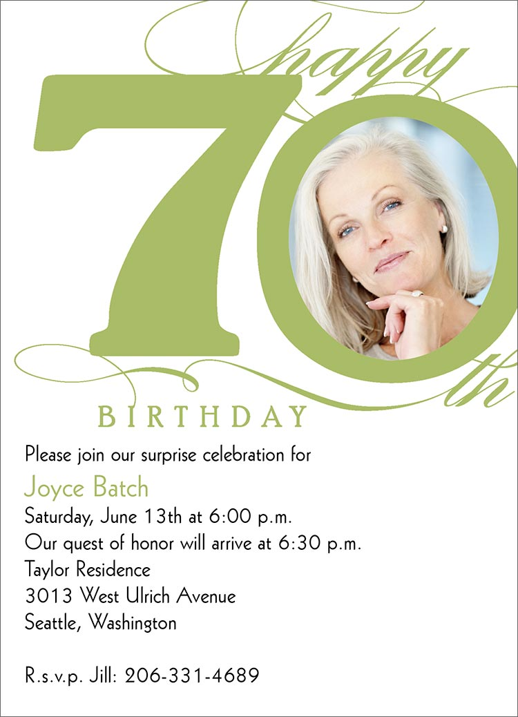 7 Images of 70th Birthday Invitations Printable