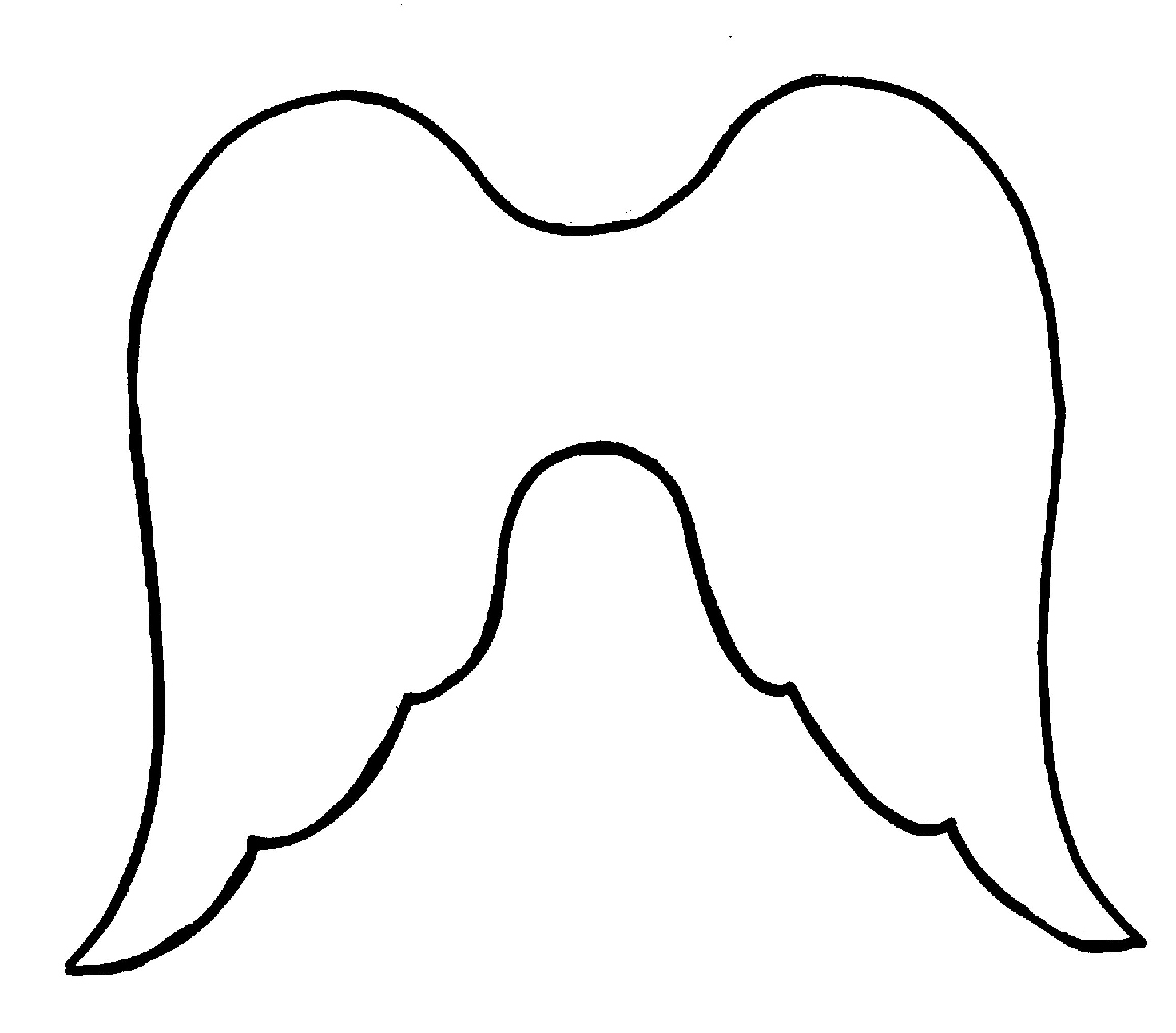 6 Images of Free Printable Angel Wings Templates