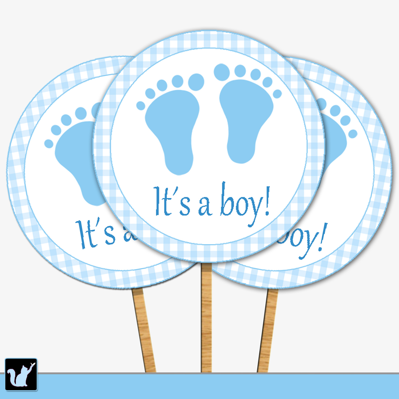 Baby Shower Background - Baby Boy Cupcake Toppers Printable, Boy Baby ...