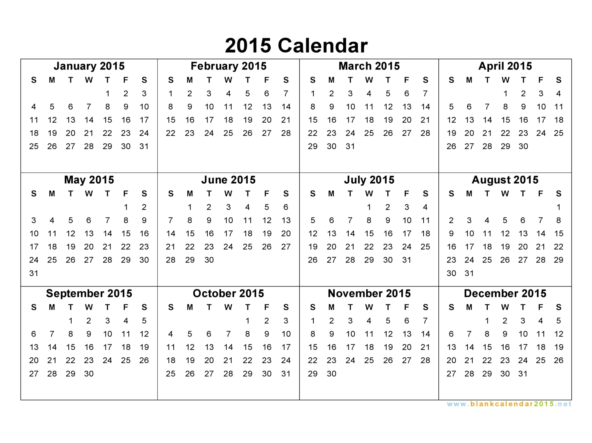 Year Calendar On Page : Best images of year calendar printable one page