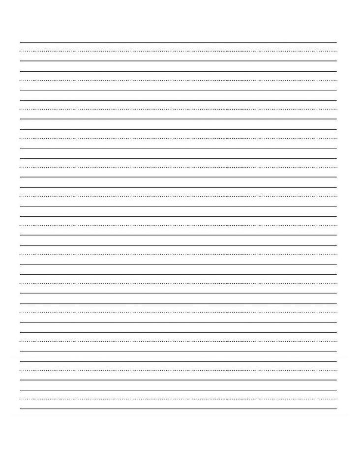 Blank top handwriting paper