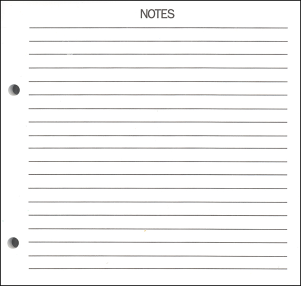 Blank Notes Page Template