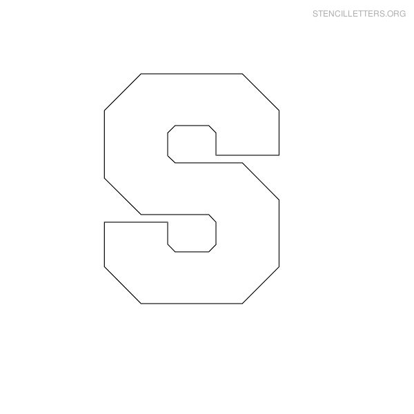 7 Images of Printable Block Letter Stencils S