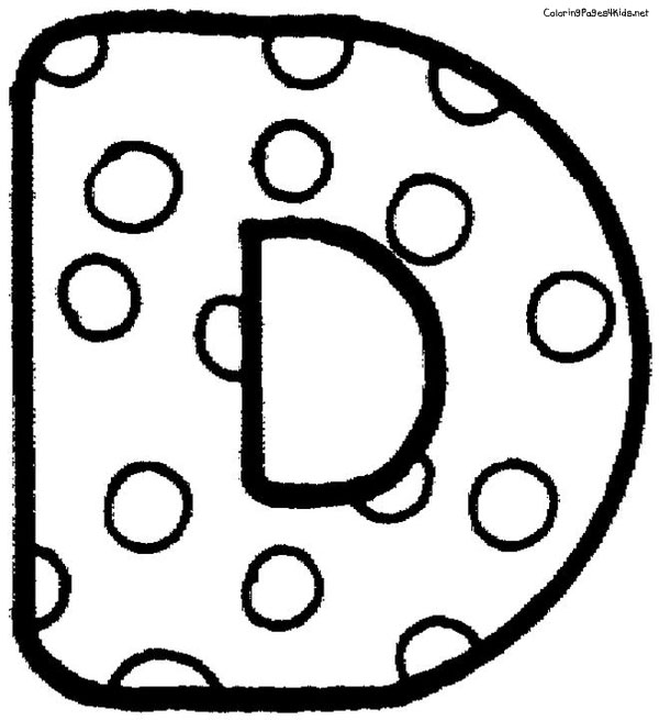 Bubble Letter D Coloring Pages
