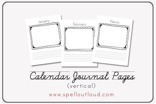 Kindergarten Calendar Journal : Best images of kindergarten calendar journal printables