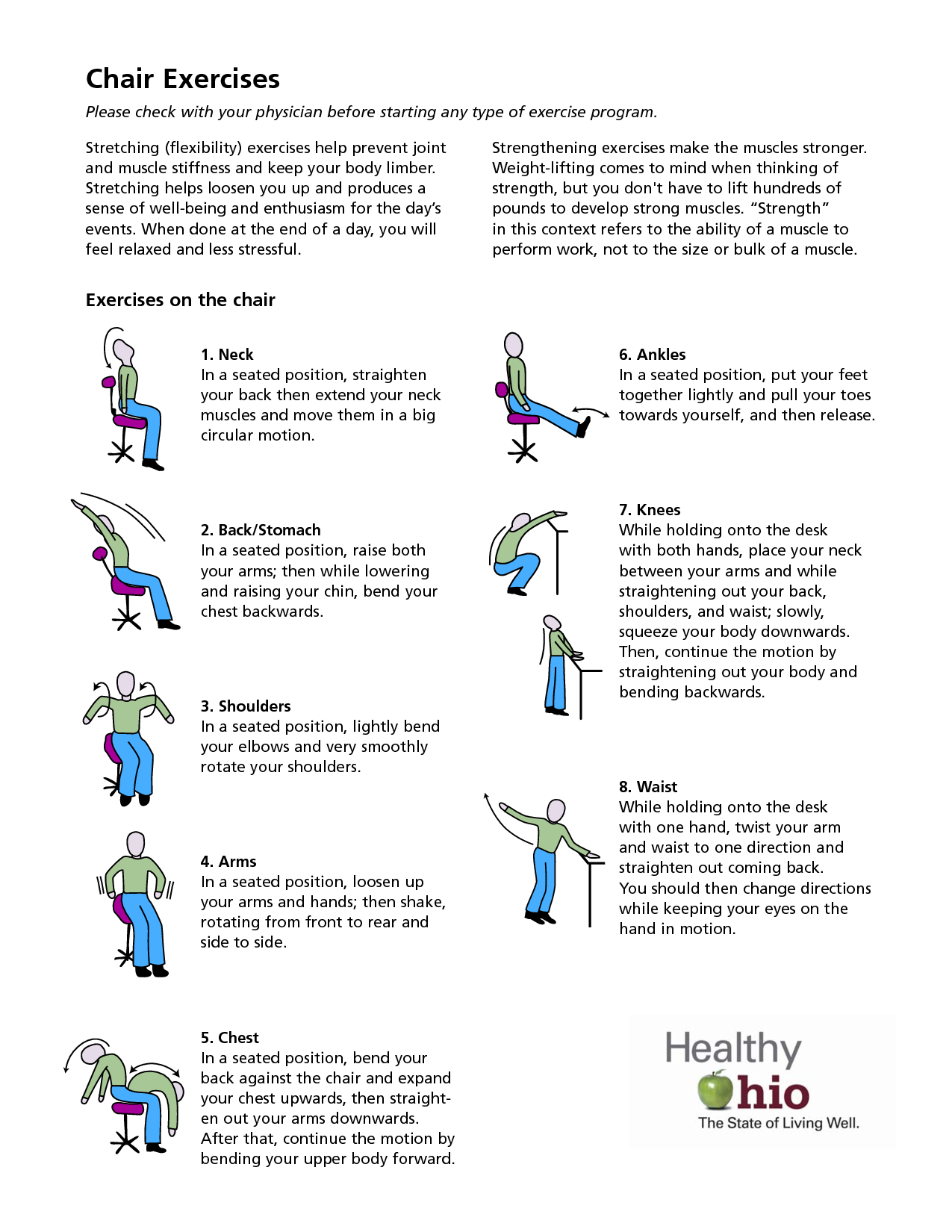 9 Best Images Of Printable Chair Exercise Routines Free