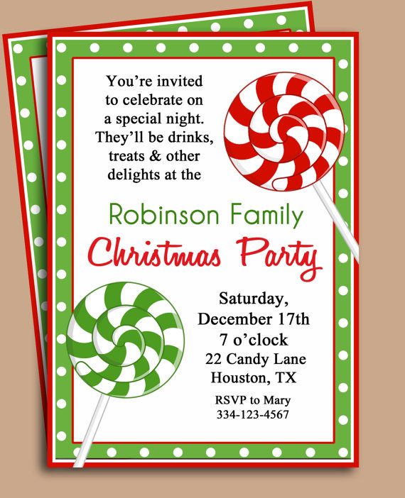 7 best images of free printable christmas invitation templates free christmas party printables for Free holiday invite templates