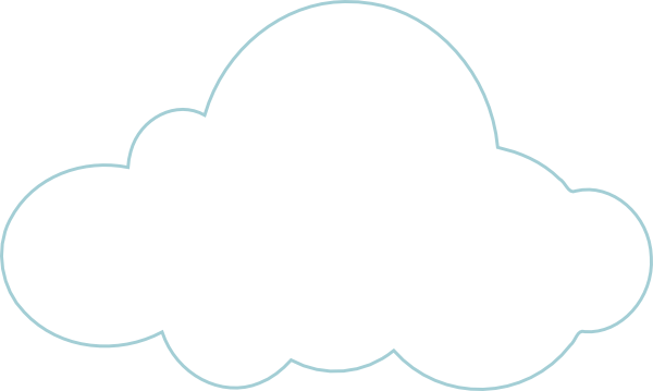 5 best images of printable cloud template cloud cut out for Cloud template with lines