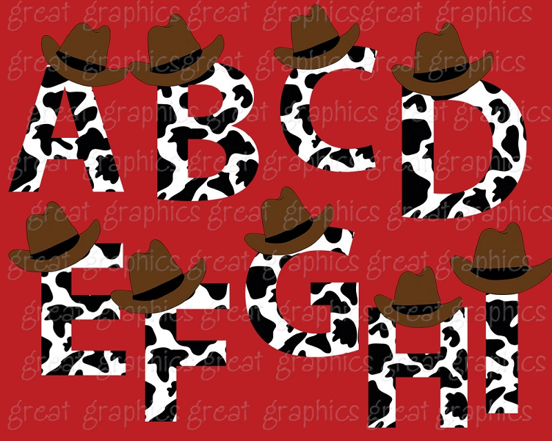 6 Images of Cowboy Letters Printable