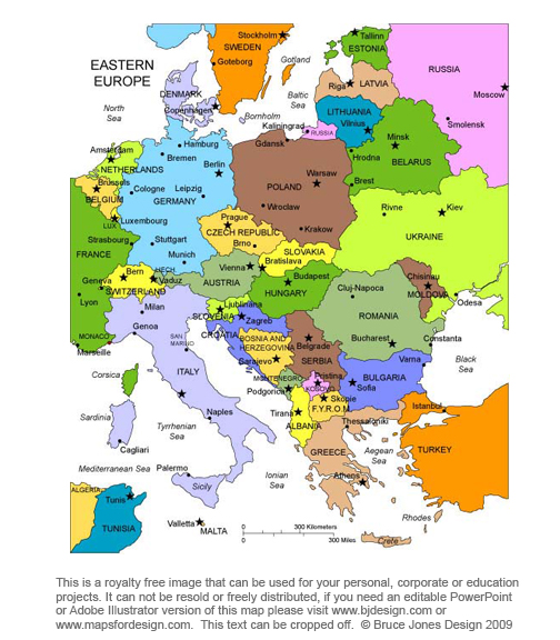 6 Images of Printable Maps Of Eastern Europe