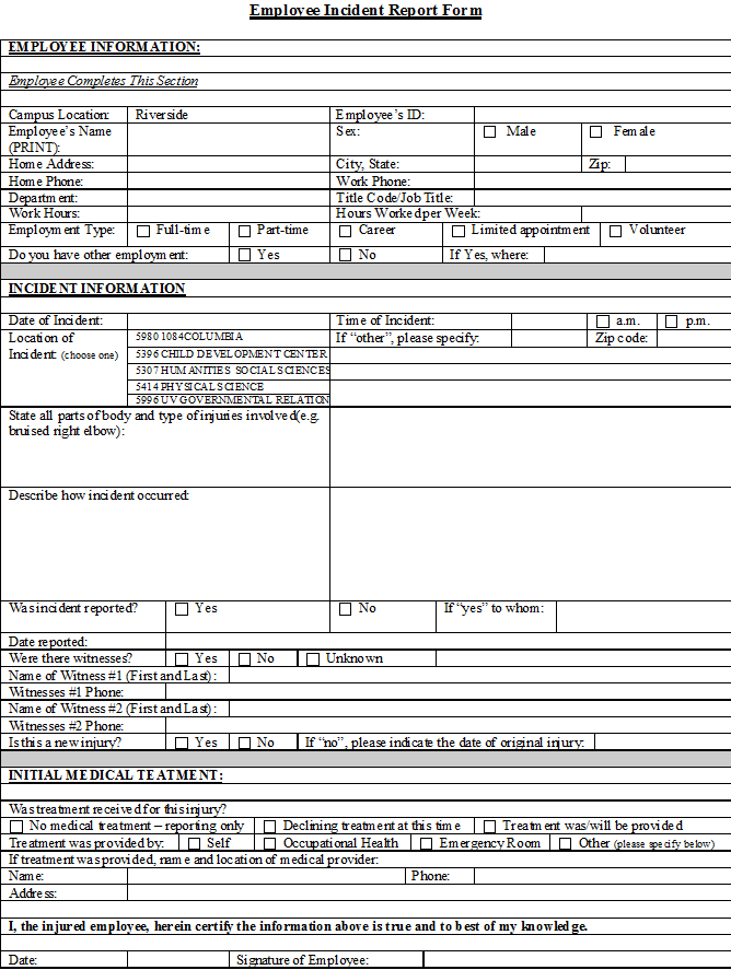 accident incident report form pdf