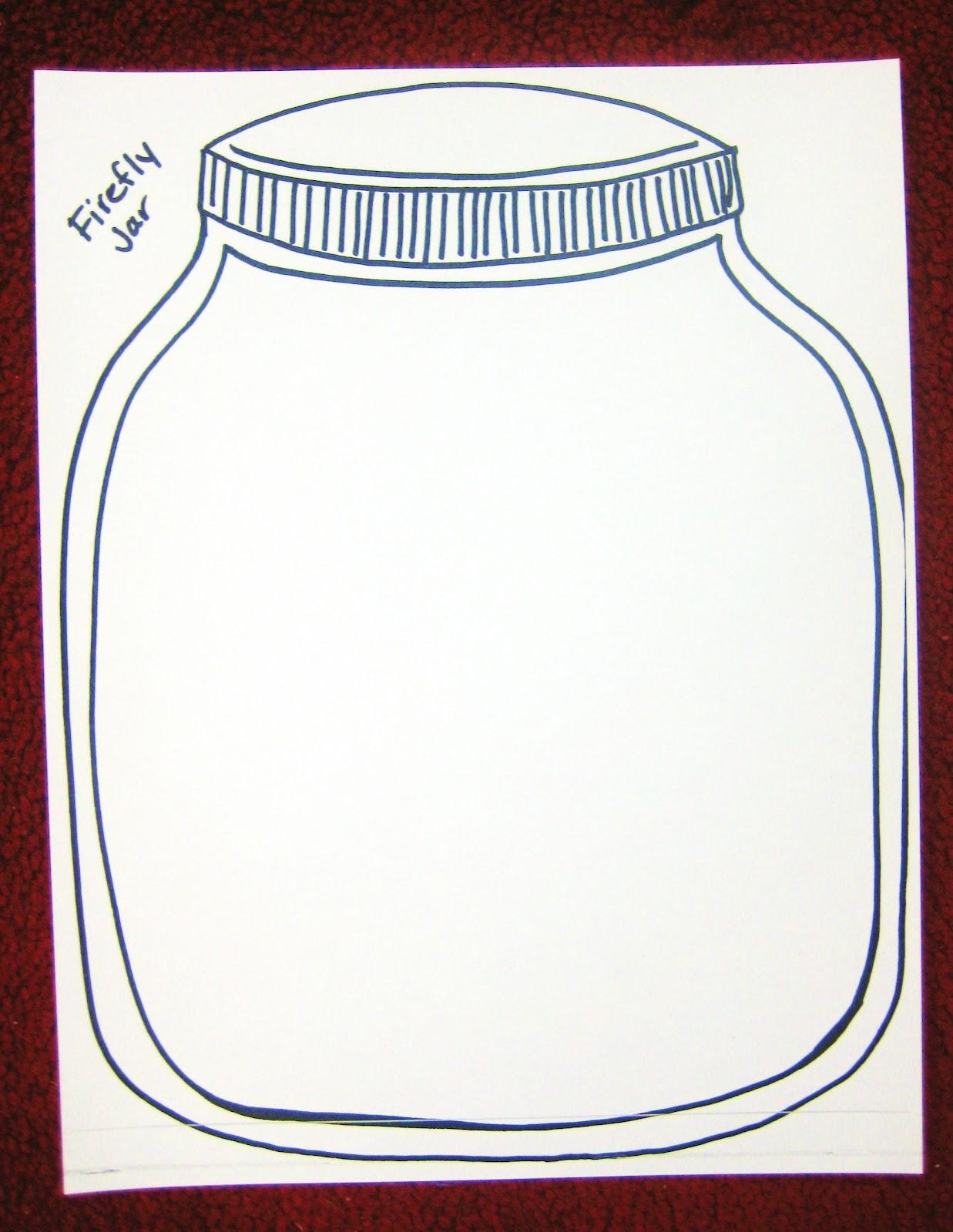 Firefly Jar Template Printable