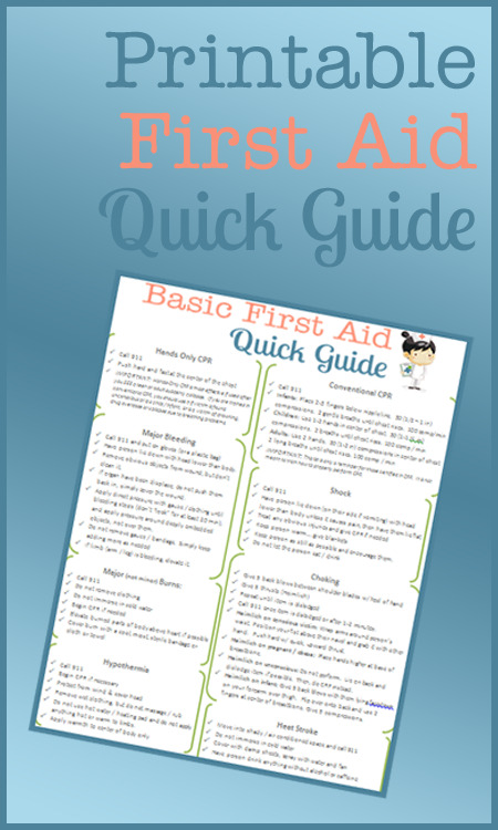 First Aid Guide Printable